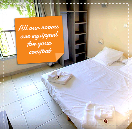 All our rooms are equipped for your comfort
